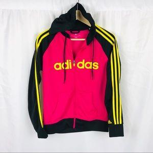 Adidas climalite full zip hooded jacket hoodie